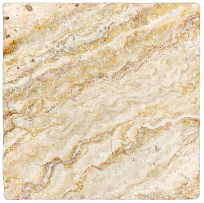 """4""""x4"""" Scabos Tumbled Travertine Tile 73-009"""