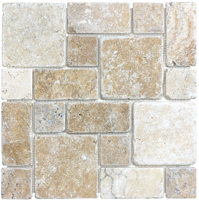 Picasso Travertine Roman Pattern Mosaic Picasso