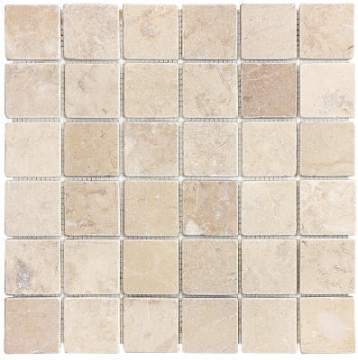 Berkshire Crema Tumbled Travertine Mosaic 2 Quot X2