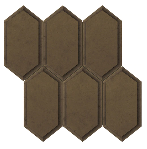 Anatolia - Obsidian Antique Bronze Beveled Crystal Hexagon Mirror Mosaic Tile
