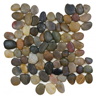 "Zen Bora Wilderness Natural Pebble Mosaic Tile (12""x12"" Sheet)"