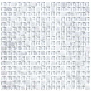 "Anatolia - 5/8""x5/8"" Bliss Norwegian Ice Glass Quartz Blend Mosaic Tile 35-022"
