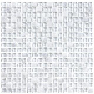 "Anatolia - 5/8""x5/8"" Bliss Norwegian Ice Glass Quartz Blend Mosaic Tile 35-022"