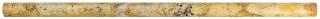 """5/8""""x12"""" Scabos Honed Travertine Mini Pencil 77-354"""