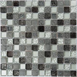 "Milstone - 1""x1"" Portoro Mosaic  (11.75""x11.75"" Sheet)"