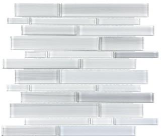 Anatolia - Bliss Fusion Ice Random Strip Glass Mosaic Tile 35-029