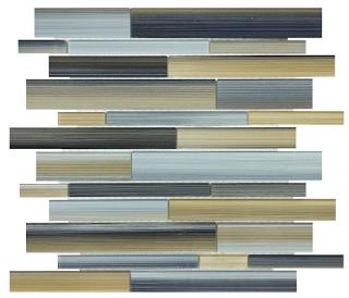 Anatolia - Bliss Fusion Oxide Random Strip Glass Mosaic Tile 35-031