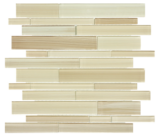 Anatolia - Bliss Fusion Sand Random Strip Glass Mosaic Tile 35-032