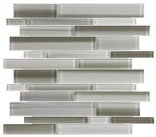Anatolia - Bliss Fusion Clay Random Strip Glass Mosaic Tile 35-035