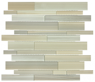 Anatolia - Bliss Fusion Plantation Random Strip Glass Mosaic Tile 35-036
