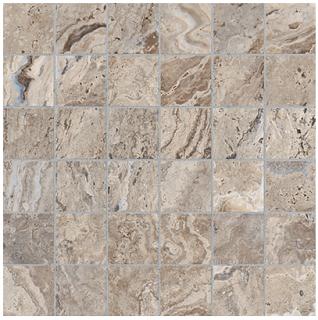 "Anatolia - 2""x2"" Antico Walnut Mosaic (12""x12"" sheet)"