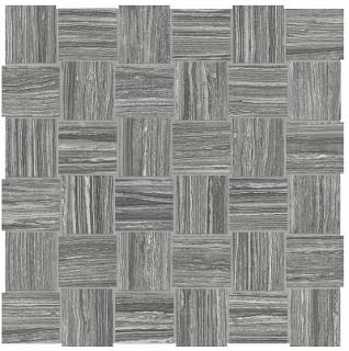 "Anatolia - 2""x2"" Eramosa Carbon Basketweave Mosaic (12""x12"" sheet)"