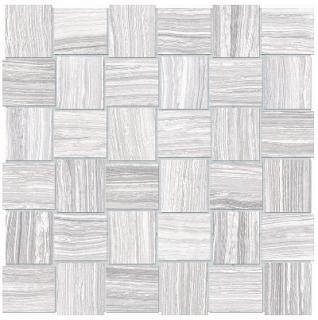 """Anatolia - 2""""x2"""" Eramosa Ice Basketweave Mosaic (12""""x12"""" sheet)"""