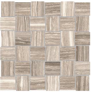 """Anatolia - 2""""x2"""" Eramosa Clay Basketweave Mosaic (12""""x12"""" sheet)"""