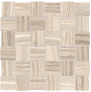"""Anatolia - 2""""x2"""" Eramosa Sand Basketweave Mosaic (12""""x12"""" sheet)"""
