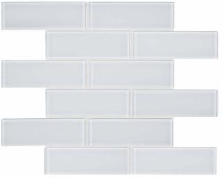 "Anatolia - 2""x6"" Bliss Element Ice Brick Glass Mosaic Tile 35-037"