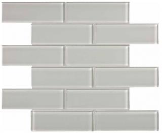 "Anatolia - 2""x6"" Bliss Element Mist Brick Glass Mosaic Tile 35-038"