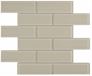 "Anatolia - 2""x6"" Bliss Element Earth Brick Glass Mosaic Tile 35-091"