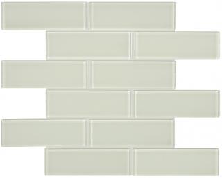 "Anatolia - 2""x6"" Bliss Element Sand Brick Glass Mosaic Tile 35-042"