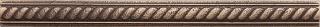 """Questech - 1""""x12"""" Cast Metal Antique Bronze Rope Listel"""
