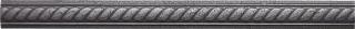 "Questech - 1""x12"" Cast Metal Wrought Iron Rope Listel"