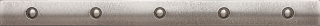 "Questech - 1""x12"" Cast Metal Brushed Nickel Dot Liner"