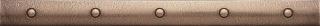"Questech - 1""x12"" Cast Metal Antique Bronze Dot Liner"