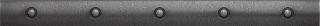 """Questech - 1""""x12"""" Cast Metal Wrought Iron Dot Liner"""