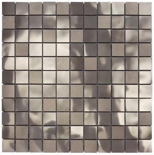 "Questech - 1""x1"" Cast Metal Brushed Nickel Starlite Mosaic"