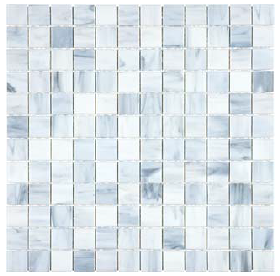 "Anatolia - 1""x1"" Bliss Baroque Carrara Stained Glass Mosaic 35-067"