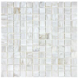 "Anatolia - 1""x1"" Bliss Baroque Calacatta Stained Glass Mosaic 35-068"