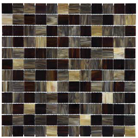 "Anatolia - 1""x1"" Bliss Baroque Paradiso Stained Glass Mosaic 35-072"