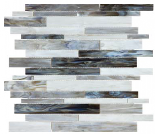 Anatolia - Bliss Baroque Alabastro Random Strip Stained Glass Mosaic 35-083