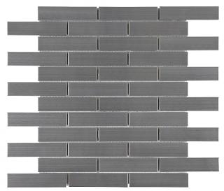 "Anatolia - 1""x4"" Stainless Steel Brick Mosaic Tile 79-154"