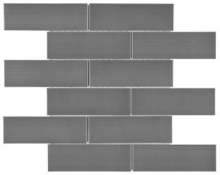 "Anatolia - 2""x6"" Stainless Steel Brick Mosaic Tile 79-155"