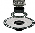"""Schluter Systems - Kerdi-Drain Stainless Steel 4"""" Square Grate (for 2"""" PVC)"""