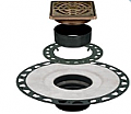 "Schluter Systems - Kerdi-Drain Oil Rubbed Bronze Stainless Steel 4"" Square Grate (for 2"" PVC)"