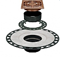 "Schluter Systems - Kerdi-Drain Brushed Copper 4"" Square Grate (for 2"" ABS)"