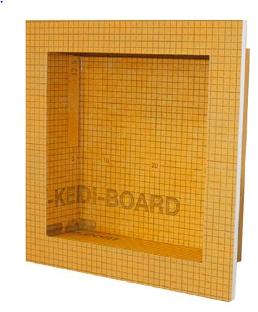"Schluter Systems - Kerdi-Board-SN Prefabricated Shower Niche (12""x12"")"