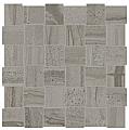 """Anatolia - 2""""x2"""" Amelia Smoke Basketweave Mosaic (12""""x12"""" sheet)"""