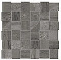 "Anatolia - 2""x2"" Amelia Carbon Basketweave Mosaic (12""x12"" sheet)"