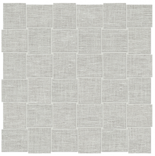 "Anatolia Tile - 2""x2"" Belgian Linen Mist Basketweave Mosaic Tile"