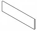 """Anatolia Tile - 3""""x12"""" Belgian Linen Ivory Bullnose"""