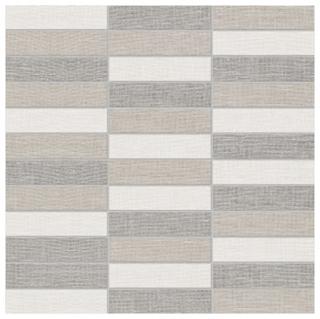 """Anatolia Tile - 1""""x4"""" Belgian Linen Light Blend Stacked Mosaic Tile"""