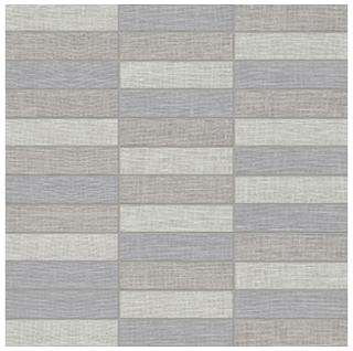 "Anatolia Tile - 1""x4"" Belgian Linen Dark Blend Stacked Mosaic Tile"
