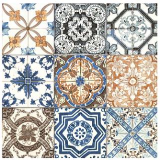 "Anatolia Tile - 8""x8"" Marrakesh Color Mix Glossy Tile 42-013"