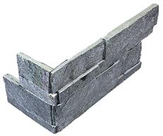 "6""x18"" Astro Silver Ledger Stone Assembled Corner 76-379"