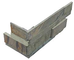 "6""x18"" Indian Coast Ledger Stone Assembled Corner 76-378"