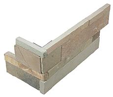 "6""x18"" African Dune Ledger Stone Assembled Corner 76-377"