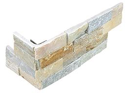 "6""x18"" Beachwalk Ledger Stone Assembled Corner 76-367"